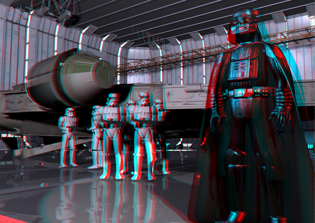 Sci Fi 3D Anaglyph Image